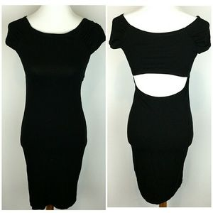 Asos Cap Sleeve Bodycon Dress Open Back sz 8